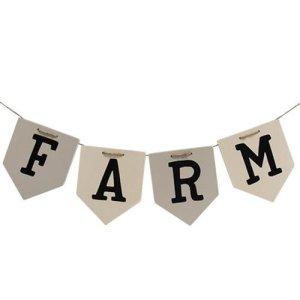 Farm Wooden Pennant Banner