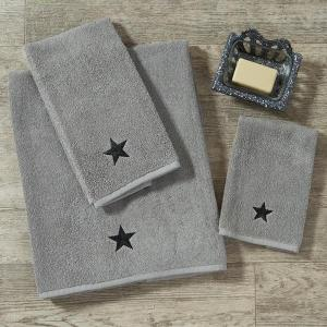 Gray Terry Towel with Black Star by Park Designs