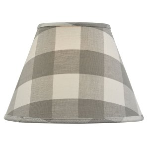 Wicklow Check Lampshade Dove
