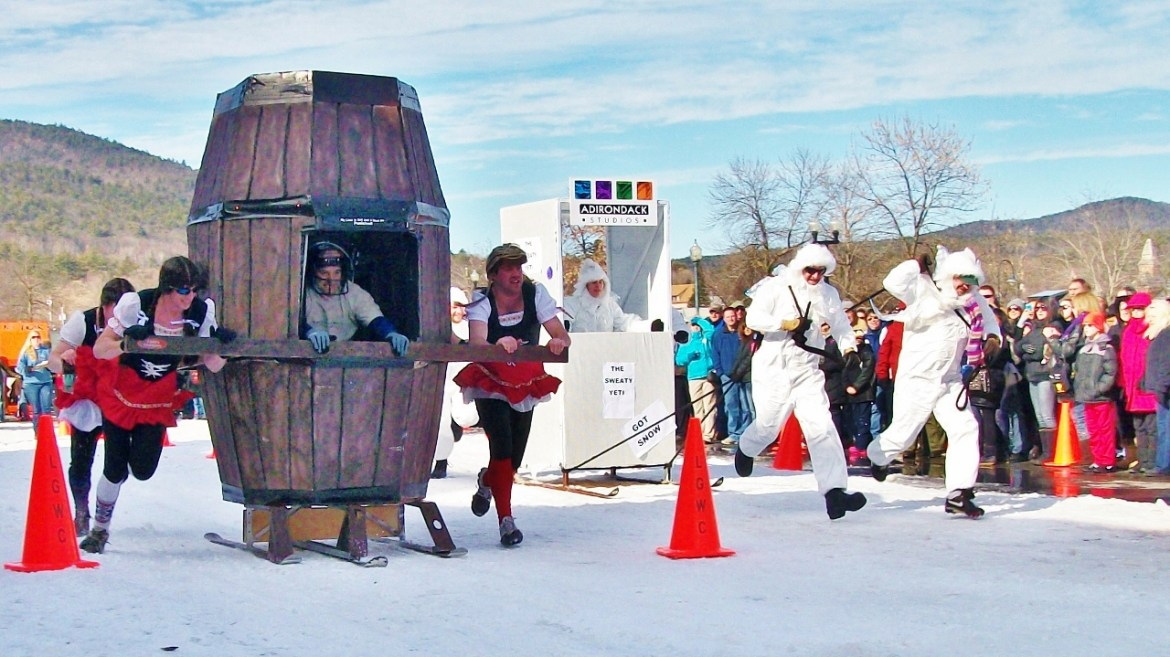 Lake George Winter Carnival outhouse races
