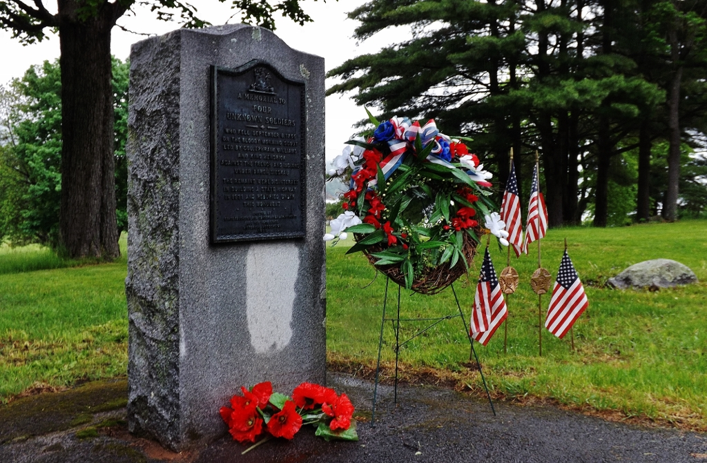 Lake George Unknown Soldiers grave