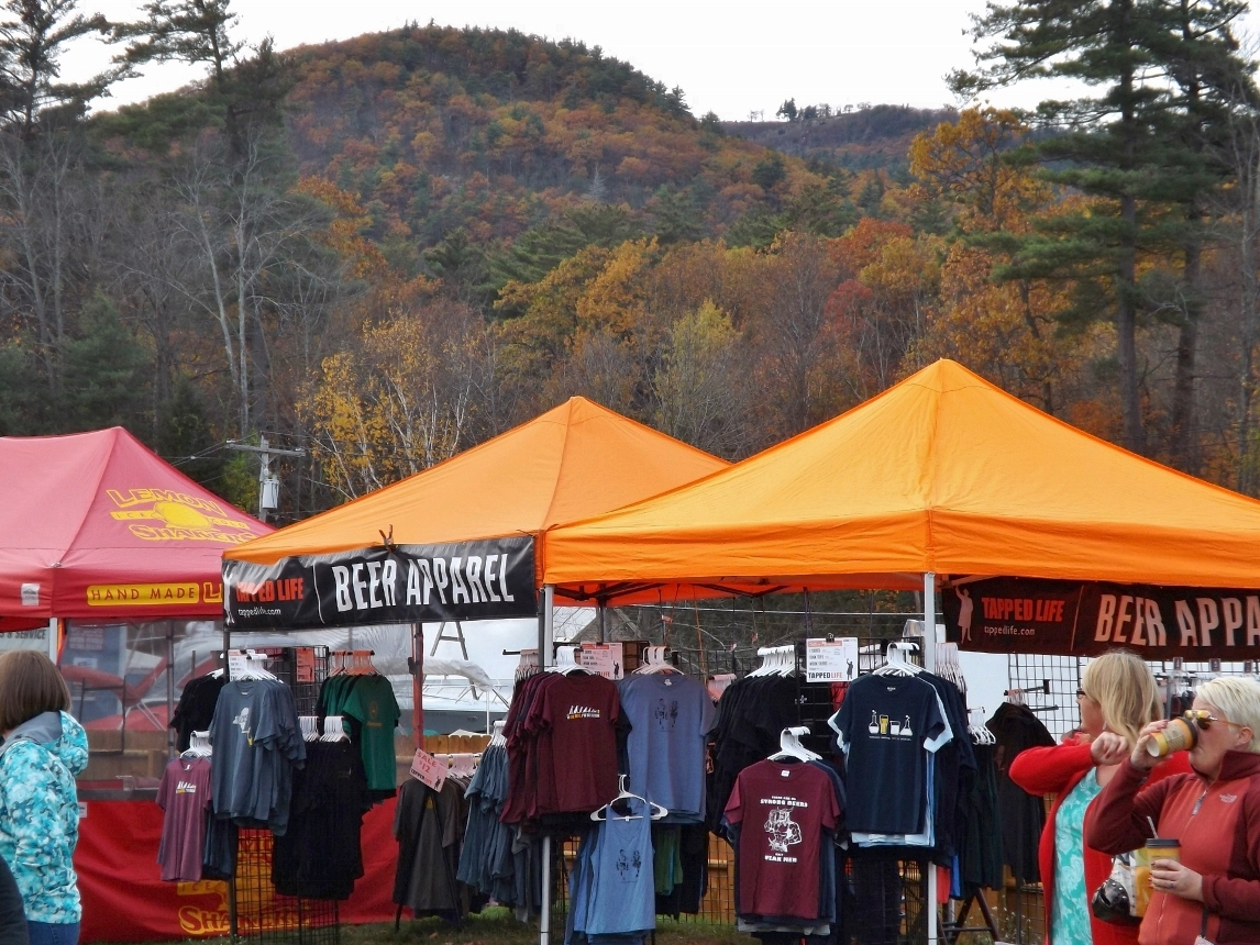 Food and merchandise vendors lined the midway at Pumpkin Chunkin.