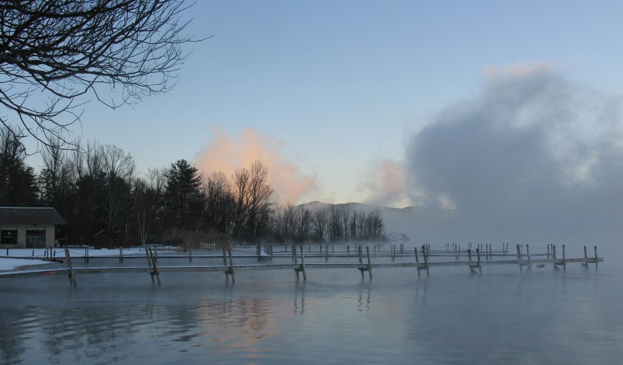 ice on lake george