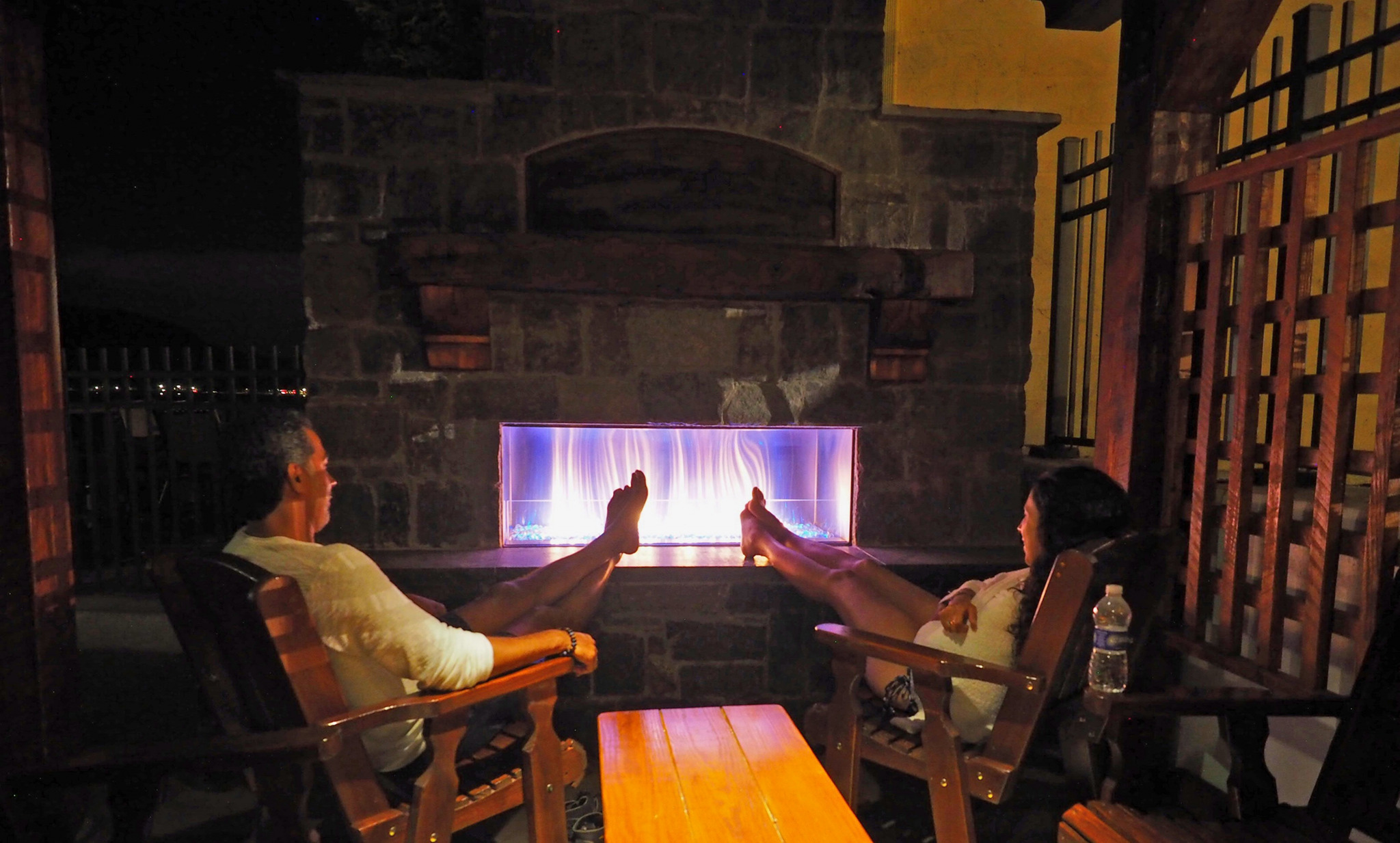 fireplace relaxing