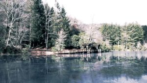 Dock on Balsam Lake NC below Balsam Lodge in Little Canada
