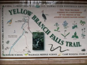 Trail Sign for Yellow Branch Falls