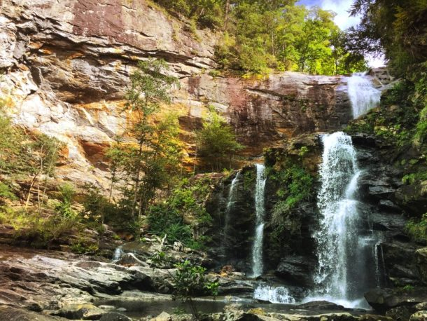 High Falls in the summer by Lkae Glenville, NC