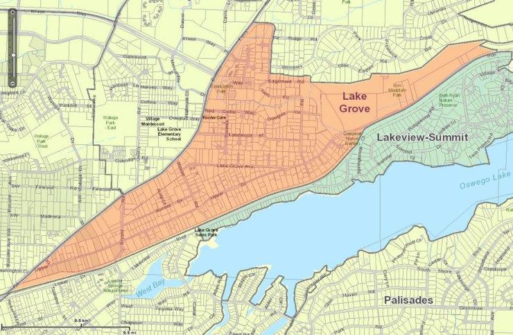 Lake Grove Neighborhood Association Map