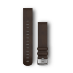 Dark Brown Leather with Silver Hardware