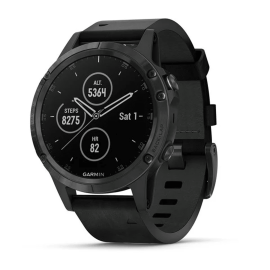 Sapphire, Black with Black Leather Band