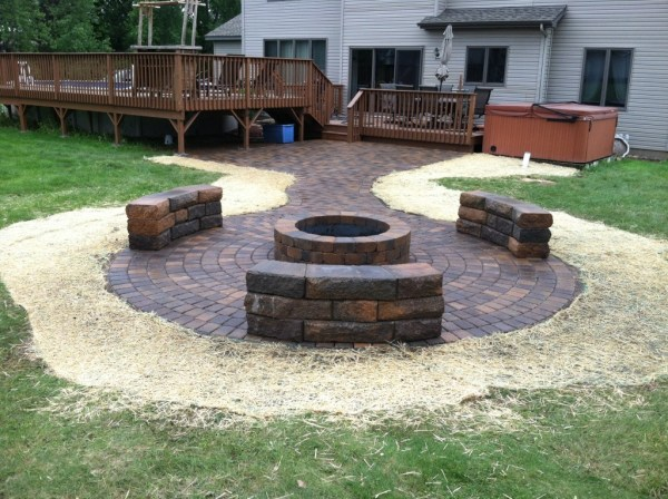 paver patio designs with fireplace Landscaping Services - New Richmond WI