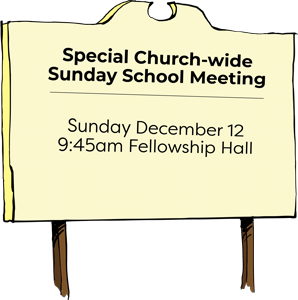 FBCL | Special Church-wide Sunday School Meeting