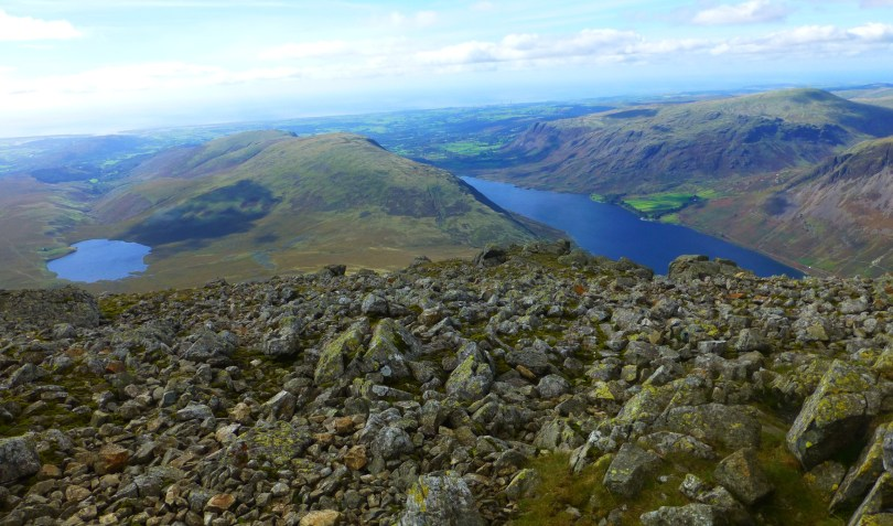 Burnmoor Tarn & Wastwater from Sca Fell