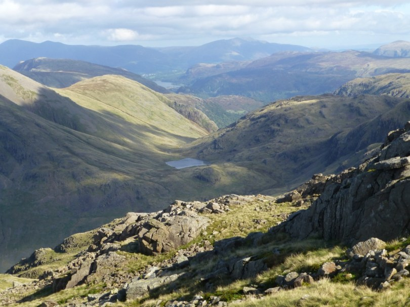 Styhead Tarn from Lingmell Col