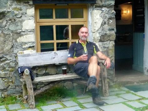 Relaxing at Black Sails Hut