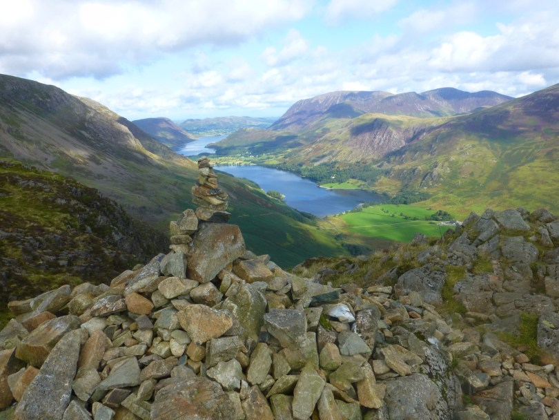 Buttermere from Haystacks summit cairn
