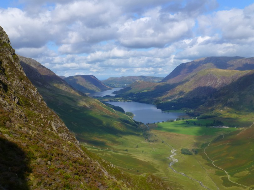 Buttermere from route to Dubs Bottom