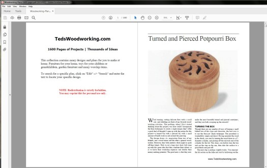 Ted's Woodworking 16,000 Plans Table of Contents