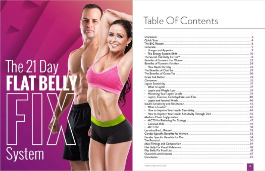 The Flat Belly Fix's Table of Contents