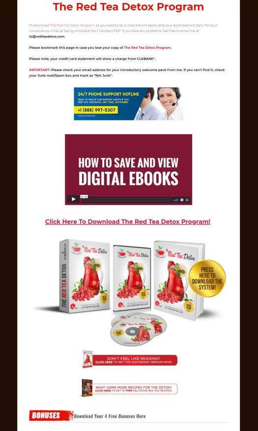 The Red Tea Detox Program Download Page
