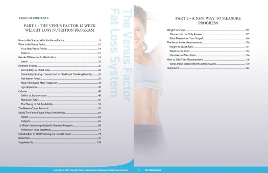 Venus Factor System Table of Contents