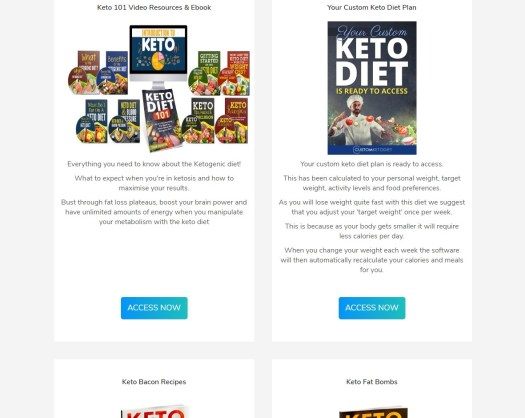 8 Week Custom Keto Diet Plan Download Page