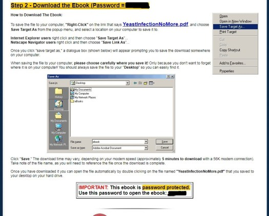 Yeast Infection No More Download Page