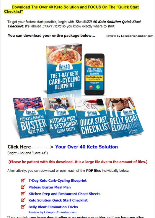 The Over 40 Keto Solution Download Page