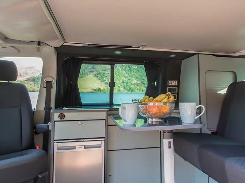 VW Transporter T6 Vans inside lakes hire