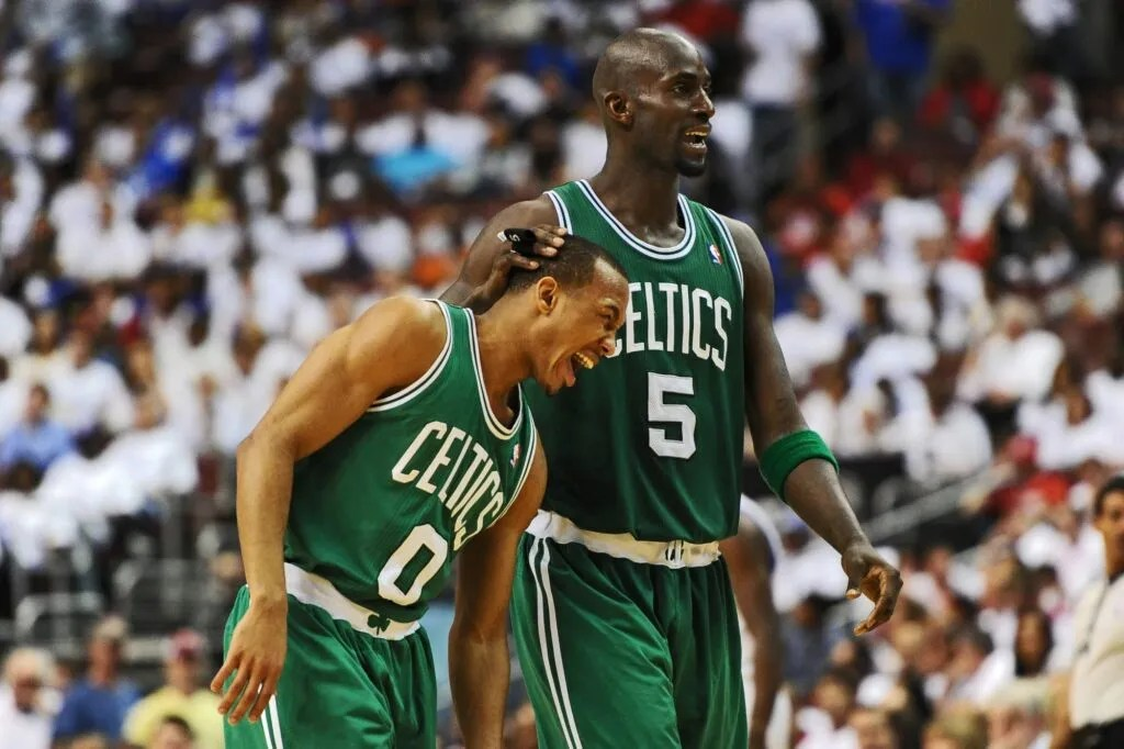 Avery Bradley and Kevin Garnett