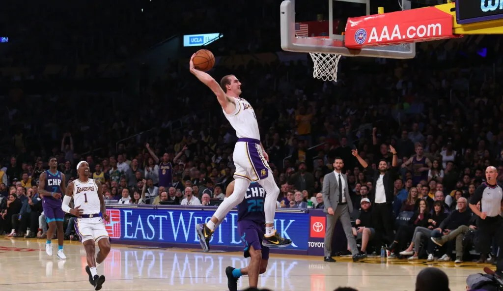Alex Caruso, Los Angeles Lakers vs Charlotte Hornets