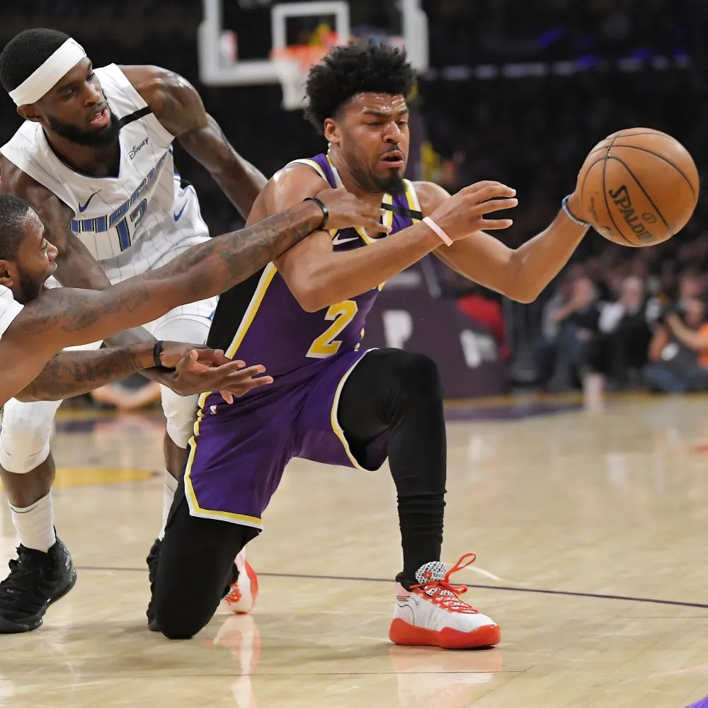 Quinn Cook, Los Angeles Lakers vs Orlando Magic at STAPLES Center