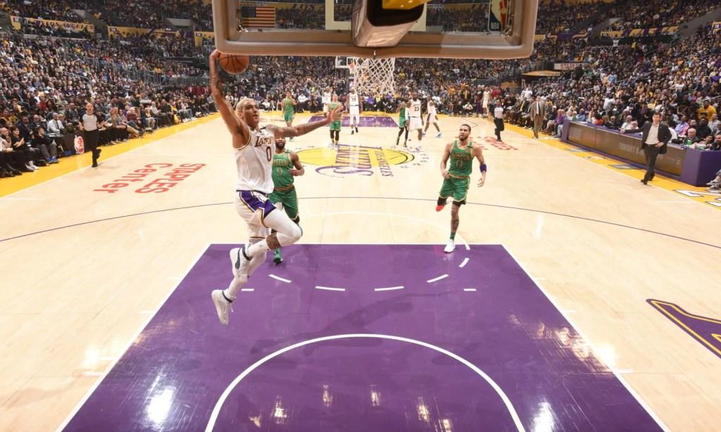 Kyle Kuzma, Los Angeles Lakers vs Boston Celtics