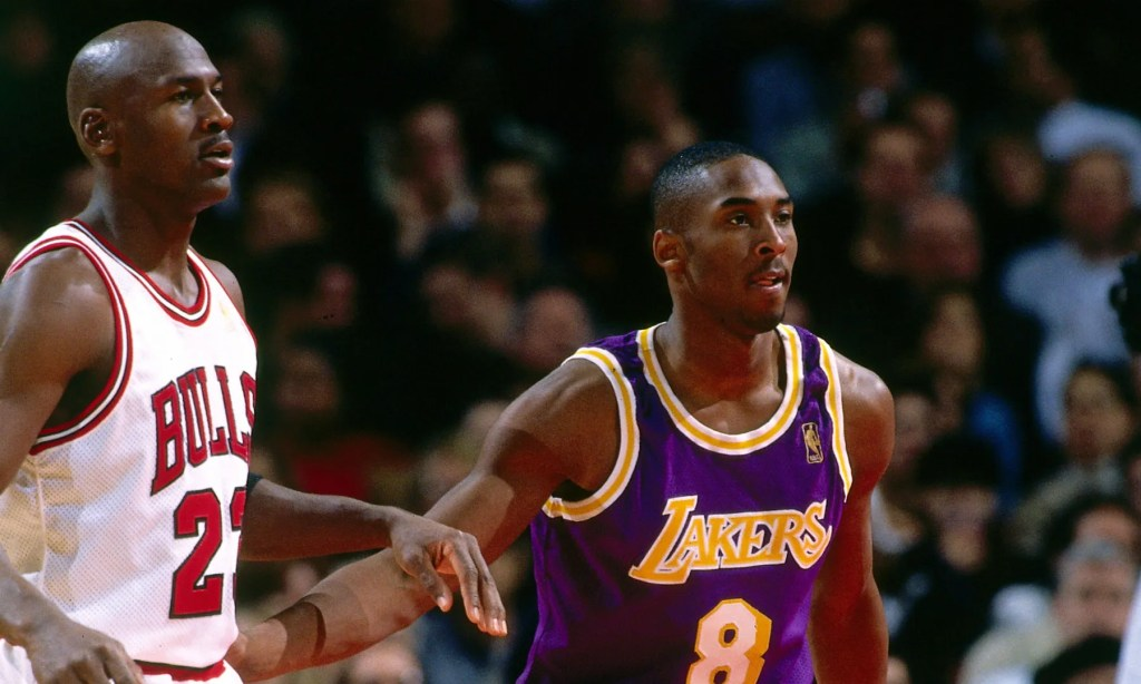 Kobe Bryant First Matchup with Michael Jordan, Los Angeles Lakers vs Chicago Bulls at United Center on December 12, 1996