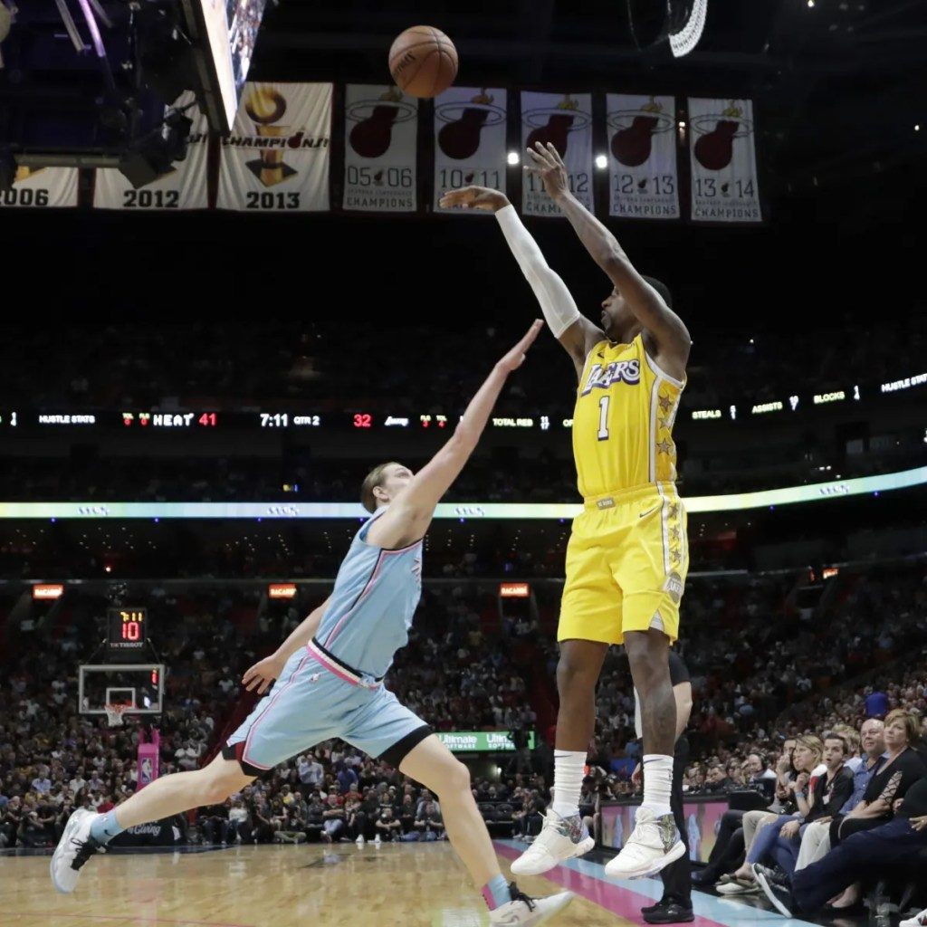 Kentavious Caldwell-Pope, Los Angeles Lakers vs Miami Heat