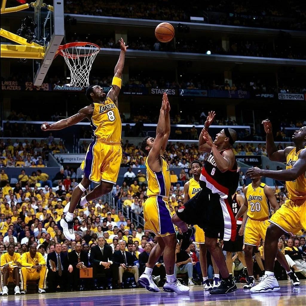2000.04.06 Lakers vs Trail Blazers 03 Kobe Bryant