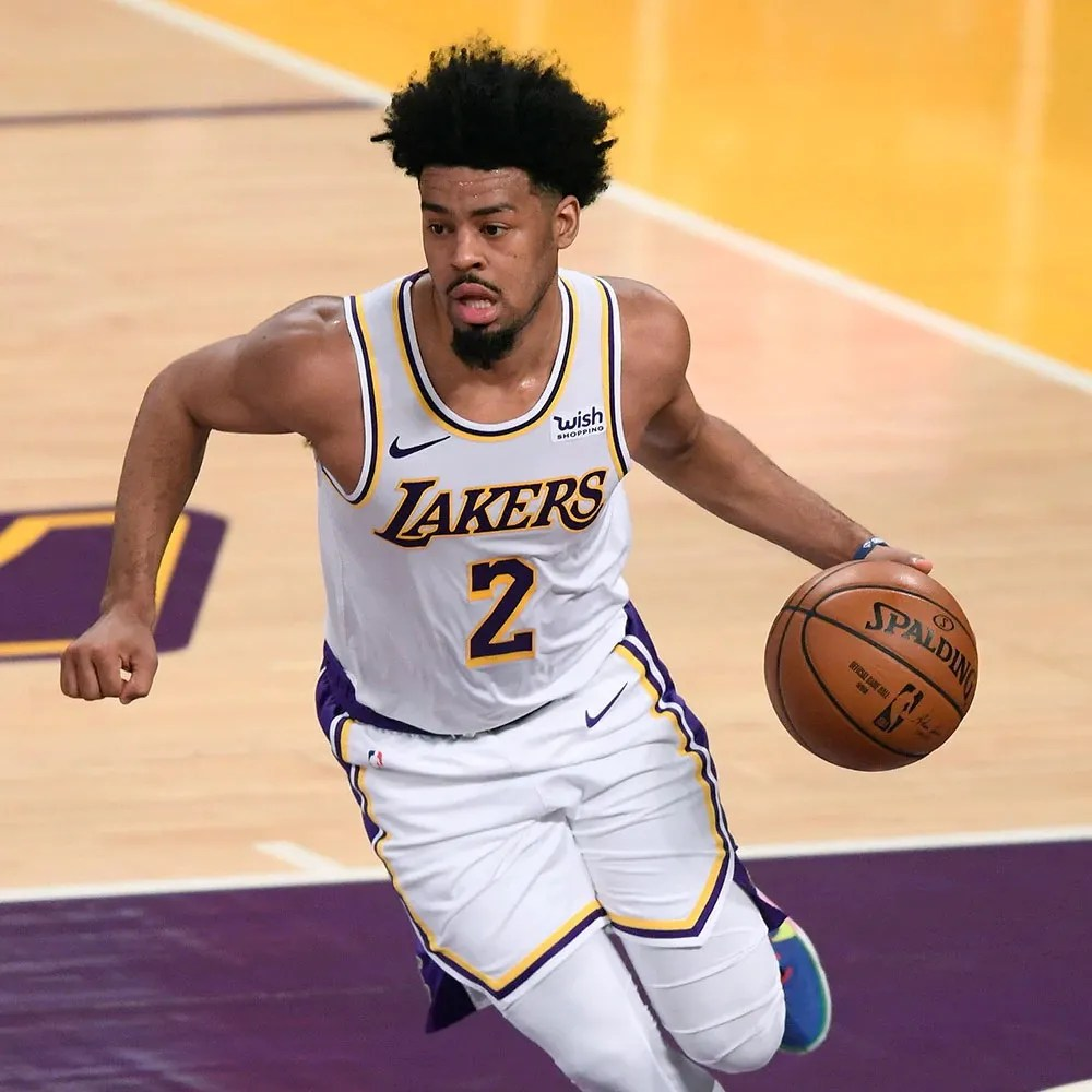 Quinn Cook, Los Angeles Lakers vs LA Clippers at STAPLES Center