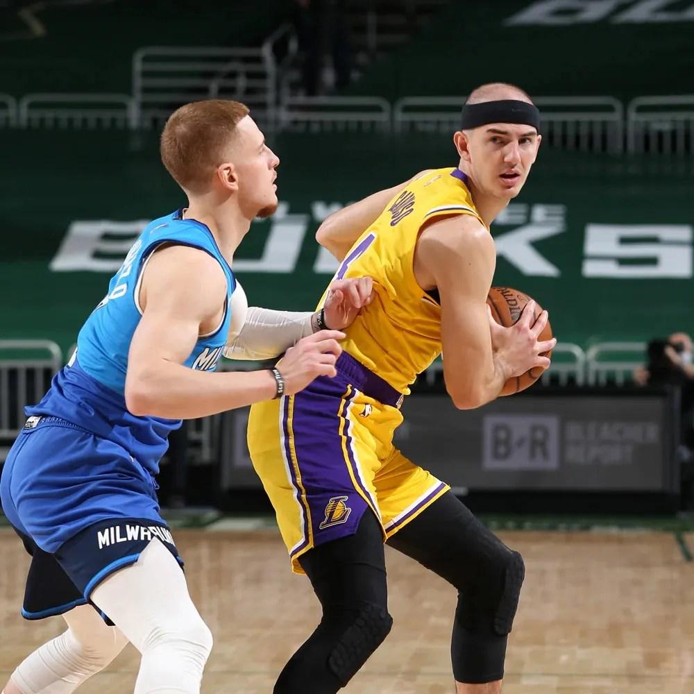 Alex Caruso, Los Angeles Lakers vs Milwaukee Bucks