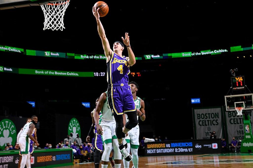 Alex Caruso, Los Angeles Lakers vs Boston Celtics