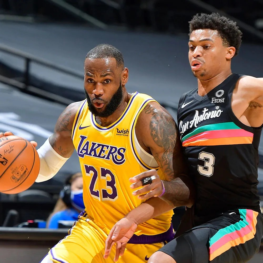 LeBron James, Los Angeles Lakers at San Antonio Spurs