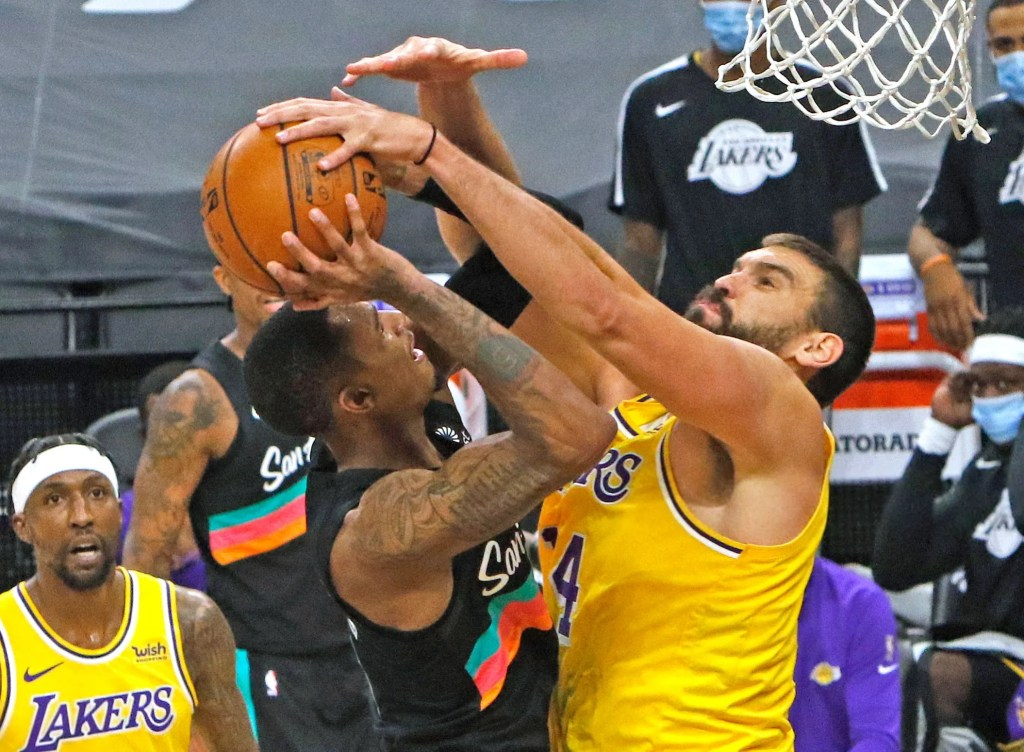 Marc Gasol, Los Angeles Lakers at San Antonio Spurs