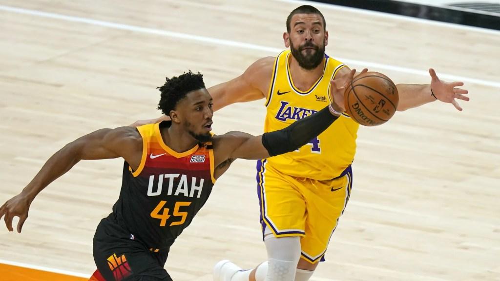 Donovan Mitchell and Marc Gasol, Los Angeles Lakers vs Utah Jazz