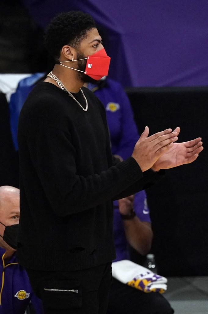 Anthony Davis, Los Angeles Lakers vs the Portland Trail Blazers