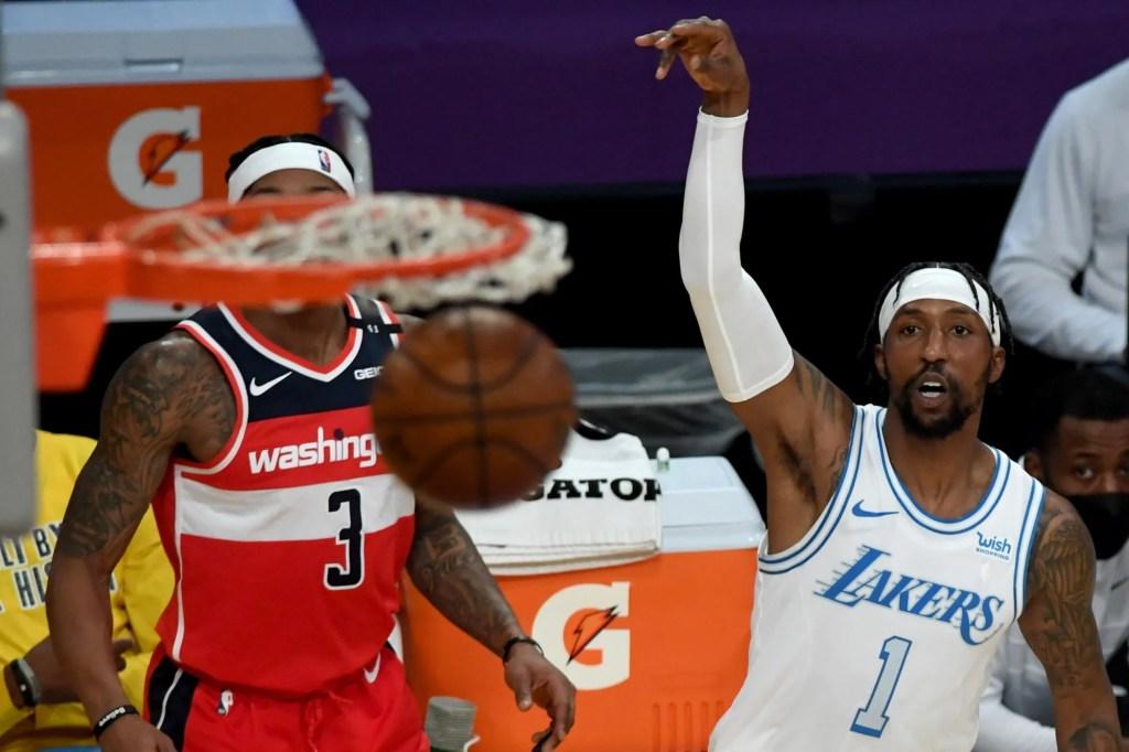 Kentavious Caldwell-Pope and Bradley Beal, Los Angeles Lakers vs Washington Wizards