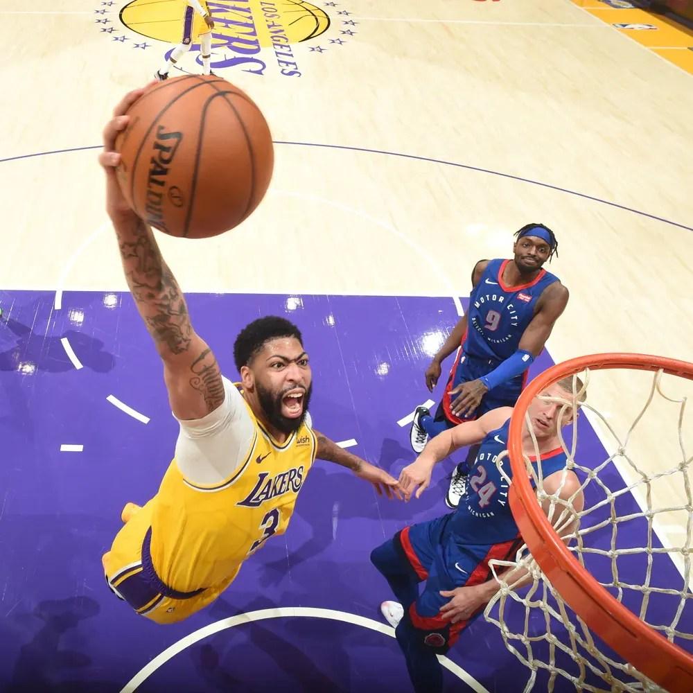 Anthony Davis, Los Angeles Lakers vs Detroit Pistons