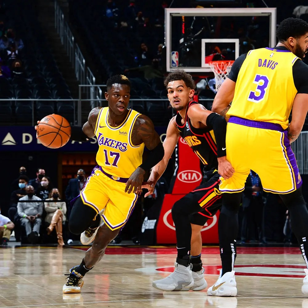 Dennis Schröder and Trae Young, Los Angeles Lakers vs Atlanta Hawks