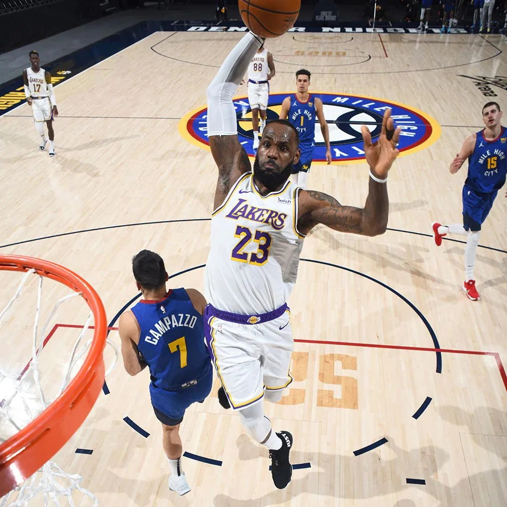 LeBron James, Los Angeles Lakers vs Denver Nuggets