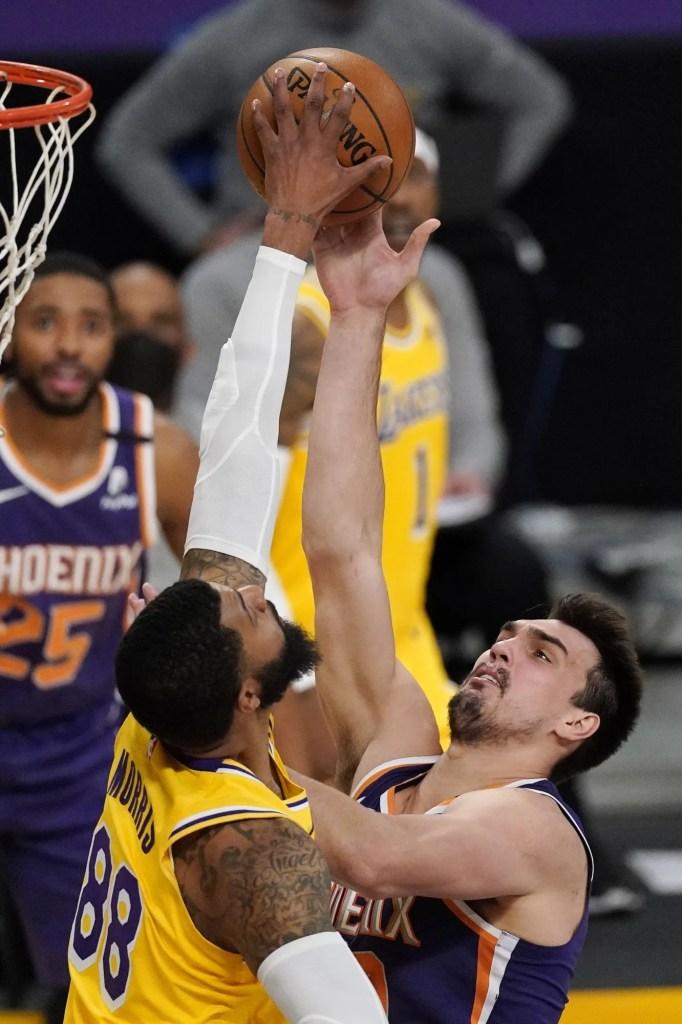 Markieff Morris and Dario Saric, Los Angeles Lakers vs Phoenix Suns