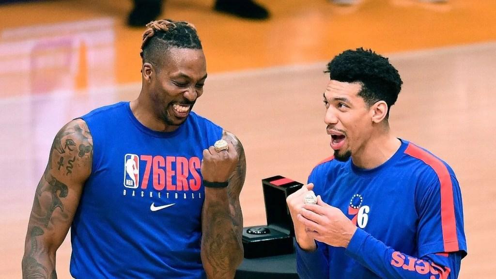 Dwight Howard and Danny Green, Los Angeles Lakers vs Philadelphia 76ers