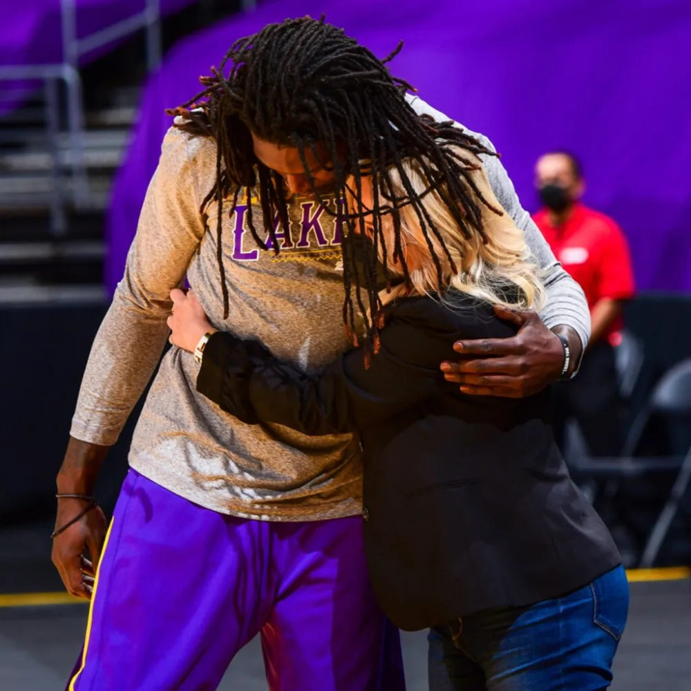 Montrezl Harrell and Jeanie Buss